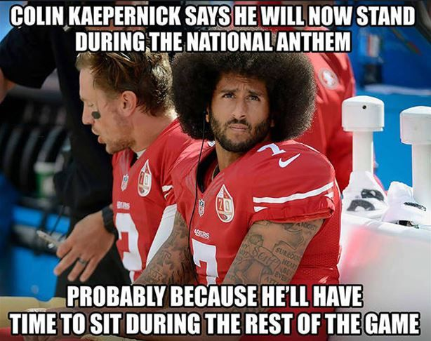 Colin Kaepernick Is Going To Stand Now http://ibeebz.com