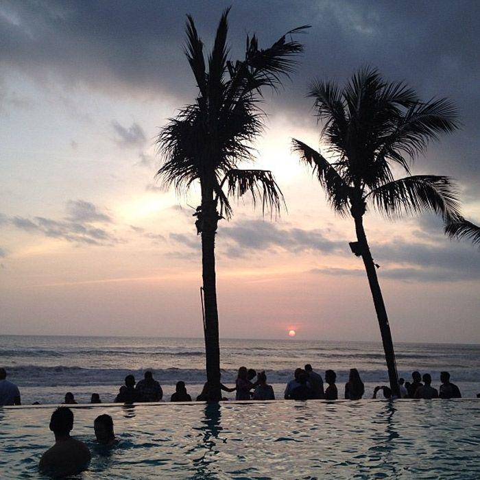 Sunset at Potato Head Beach Club in Seminyak, Bali