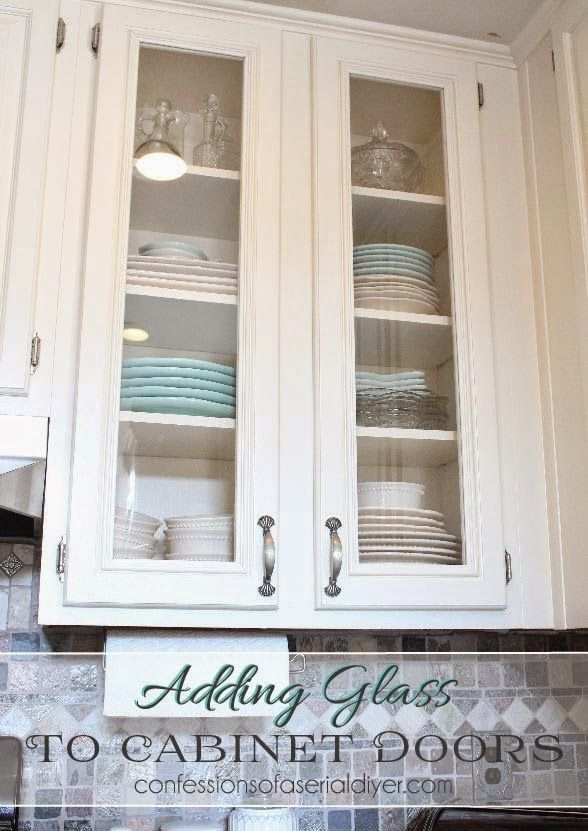 How to Add Glass to Cabinet Doors (It's easier and cheaper than you think!!)