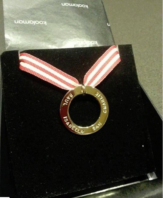 The most perfect bday present. Thank you KD. Melissa. ~AUDREY pendant~ http://www.koolamandesigns.com.au/shop/audrey-p-709.html