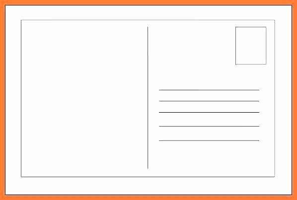 4x6 Card Template Word Inspirational Free Printable 4 6 Postcard Template Blank Vector Format Card Template Postcard Template Online Cards