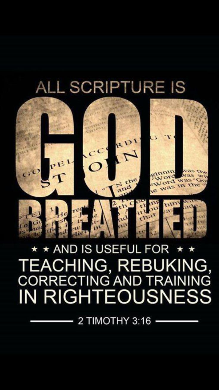 All Scripture is God's breathed and inspired by the Holy Spirit of God //ceciliacarroharvey.org