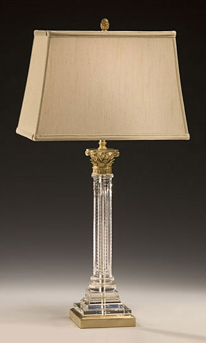 crystal column table lamp waterford ebay lamps base uk