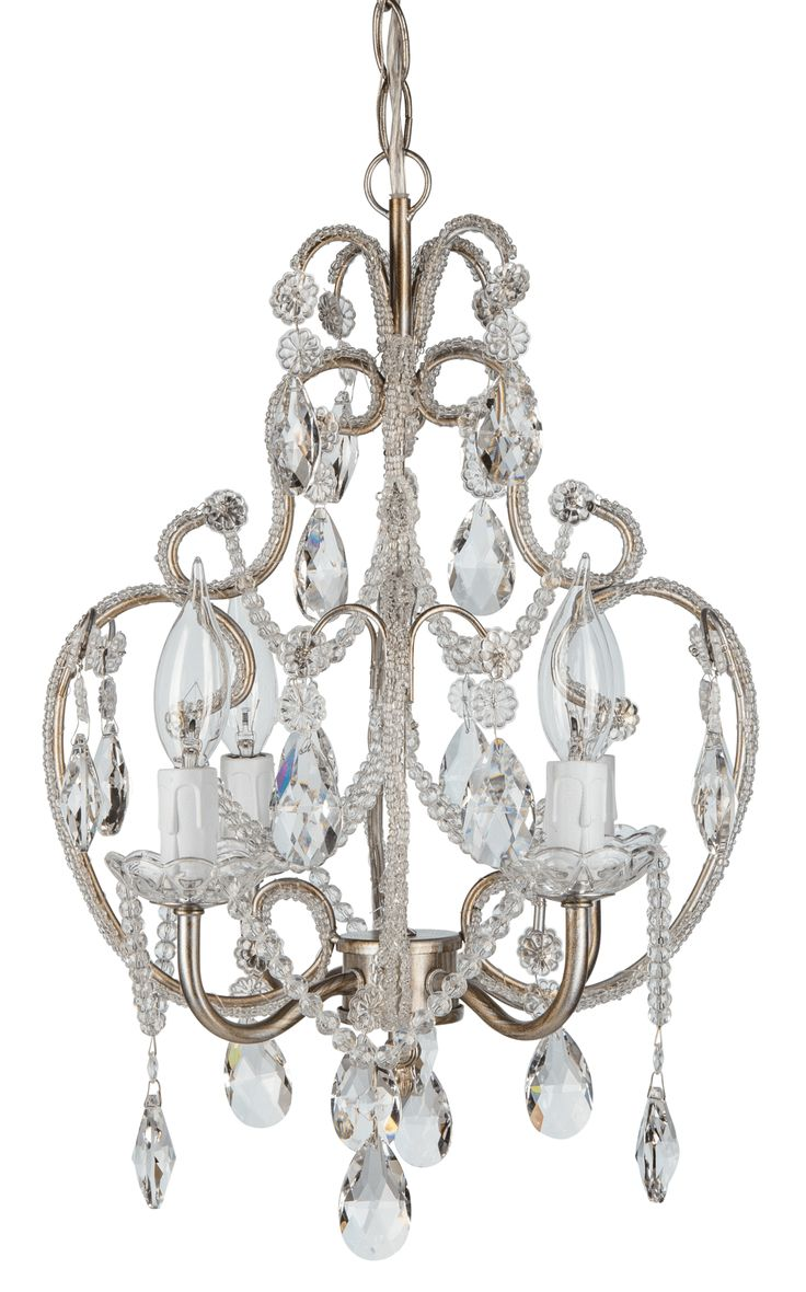 37 best chandelier accessories images on pinterest chandeliers 4 light beaded crystal plug in chandelier silver arubaitofo Choice Image