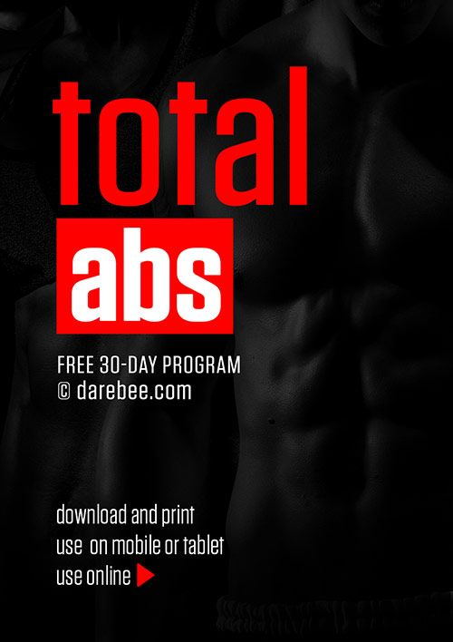 Page 1 of 31 Total Abs is an ab tone and definition oriented program based on some of the best no-equipment ab exercises. This is a complete 30-day ab builder from the ground up: the program includes exercises for definition, strength, agility and...