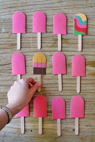 Diy paper popsicle memory game