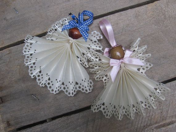 White Christmas Angel Tree Ornament White Angel by SnowNoseCrafts