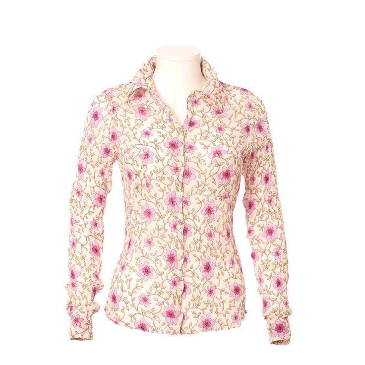 Chemise femme en coton imprimé. Edition limitée. 100% coton, voile de coton