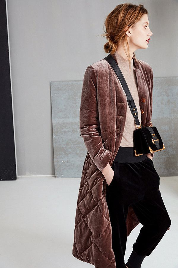 Quilted Velvet Down Jacket | Architect's Fashion