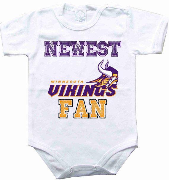 33c3ea8ea ... 23.00 Baby bodysuit Newest fan Minnesota Vikings by sportFanBaby on  Etsy ...