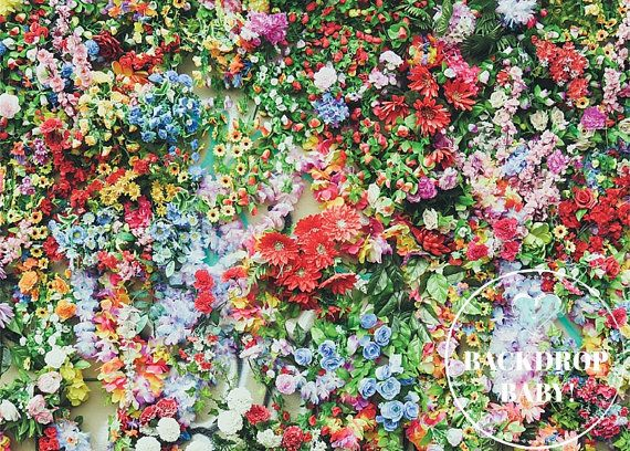 Covered in Floral Backdrop, Photography Backdrop & Floordrop, Vinyl Backdrop, PolyPro Backdrop, Canvas Backdrop, Glare Free