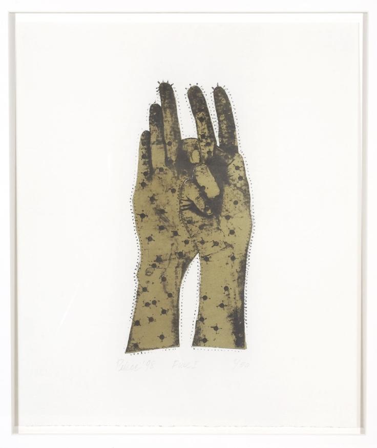 Christopher Pekoc, Five (State I), 1998 [gold]