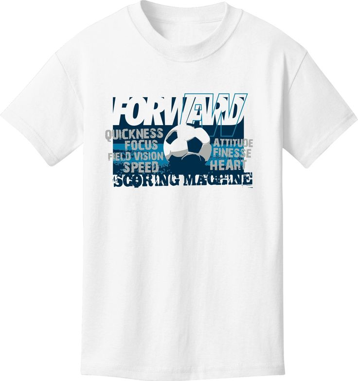 Utopia Forward Soccer Scoring Machine Short Sleeve Soccer T-Shirt