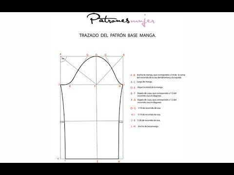 Como hacer un patrón de manga base con patronesmujer.com. Diy patrón de ...