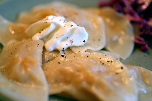 homemade pierogies with wontons wrappers could even use instant mashed ...