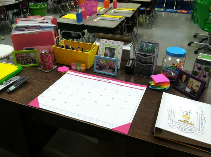 Classroom Workstation Ideas ~ Classroom desk organization ideas