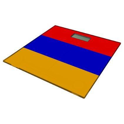 Bathroom Scale with flag of Armenia - elegant gifts gift ideas custom presents
