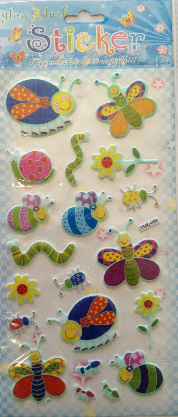 Narrow puffy stickers