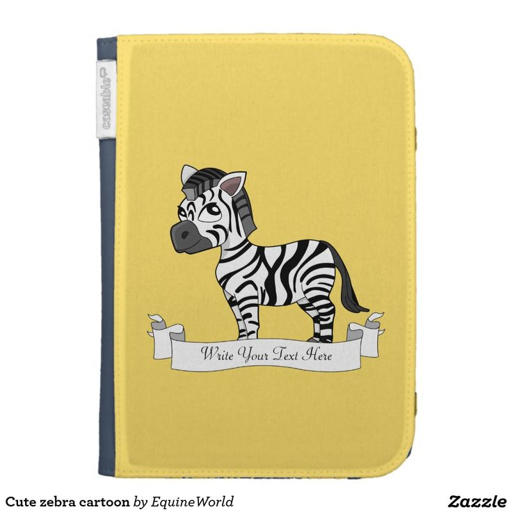 Cute zebra cartoon kindle 3 cases
