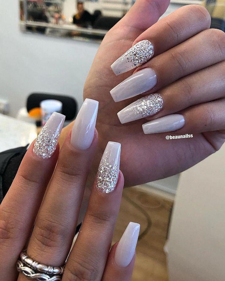 Maroon Wedding Nails Weddingnail Style Wedding Inspirasi Bride Nails Coffin Nails Designs White Acrylic Nails