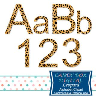 This leopard alphabet works great for both your natural and your wild side!  Great alphabet clip art for scrapbooks, journals, invitations, blogs and websites!