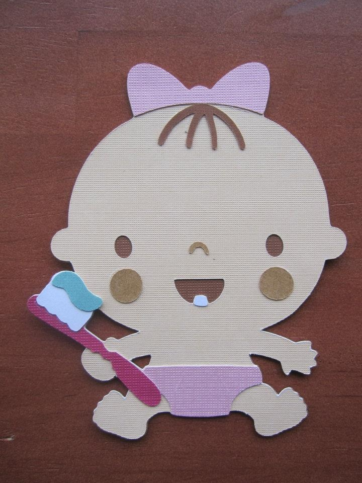 Baby Girl First Tooth Die-cuts