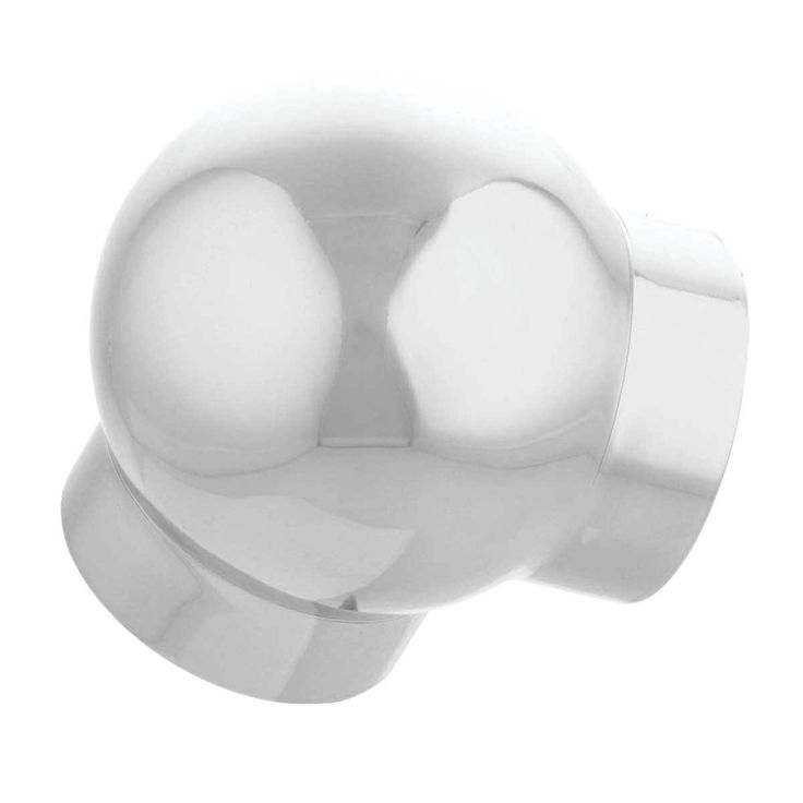 Rail Ball Elbow Fitting 90 Degree Connector 2 OD Chrome (Grey) (Renovator's Supply)