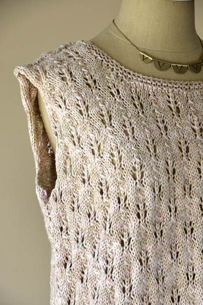Free Knitting Pattern for a Sand Dollar Tank