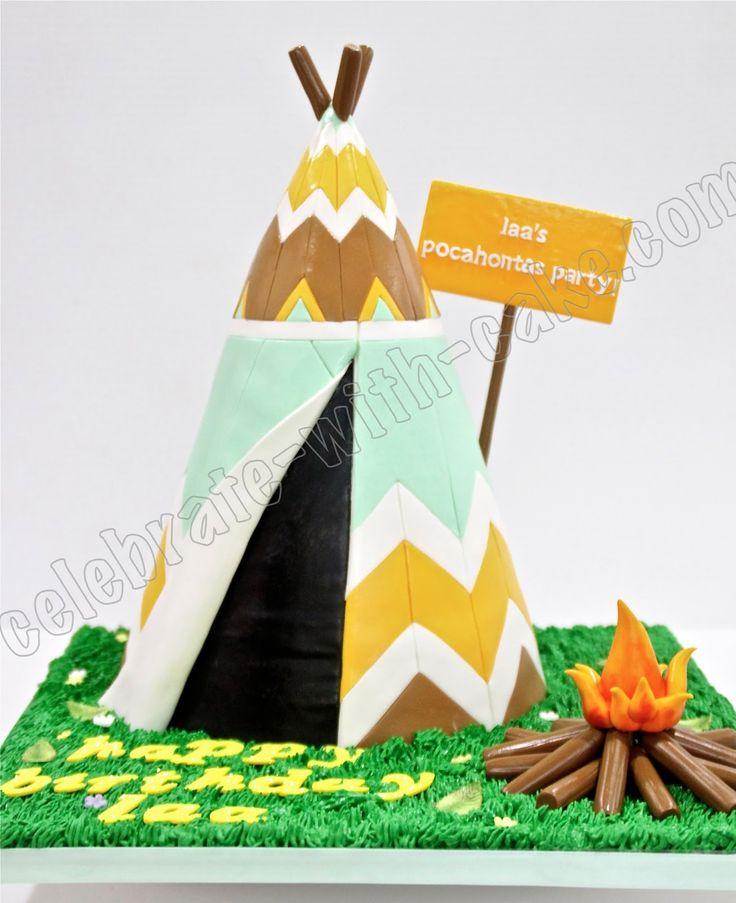 Celebrate with Cake!: Pocahontas Tipi/Teepee Cake