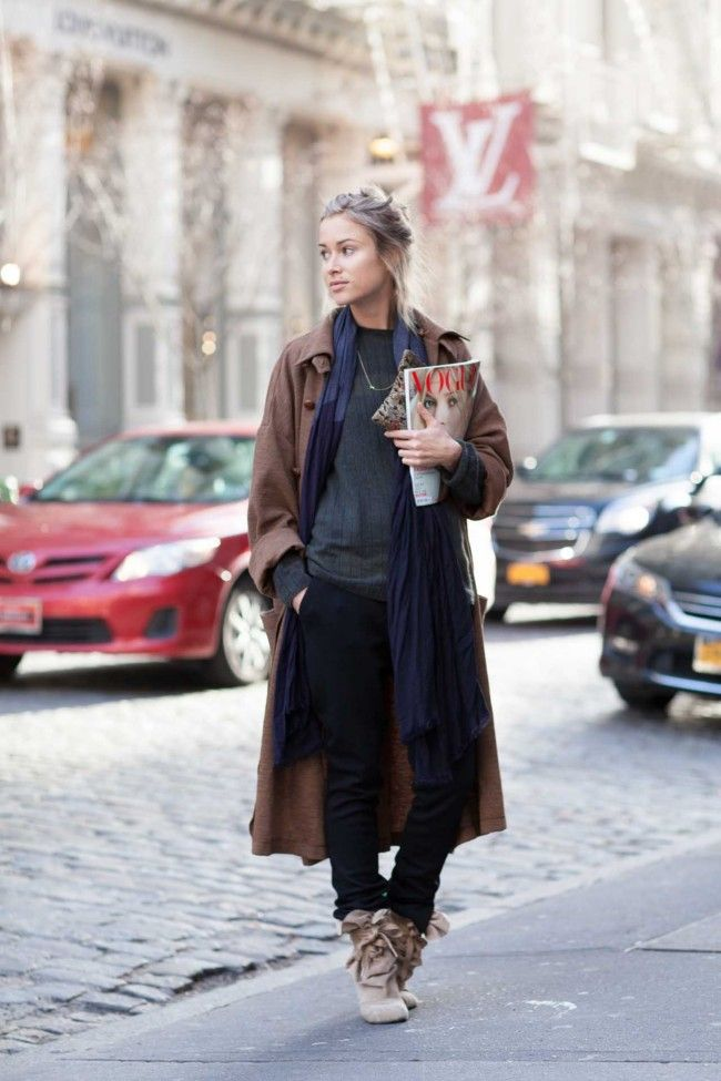 New York Street Style December 2014 Vogue Australia Street Style Pinterest Vogue
