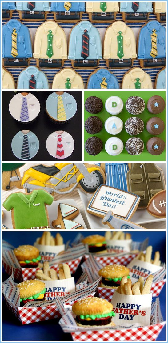 """Father's Day cupcakes and treats - We don't go that """"all out"""", but still such fun ideas!"""