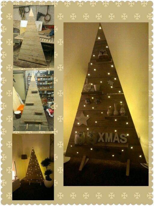 Steigerhouten kerstboom!