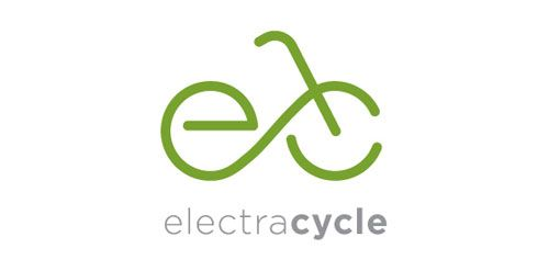 The Electra Cycle #logo features a bicycle icon made of the two initials - designed by Logo Design Made Easy, Toronto, Canada