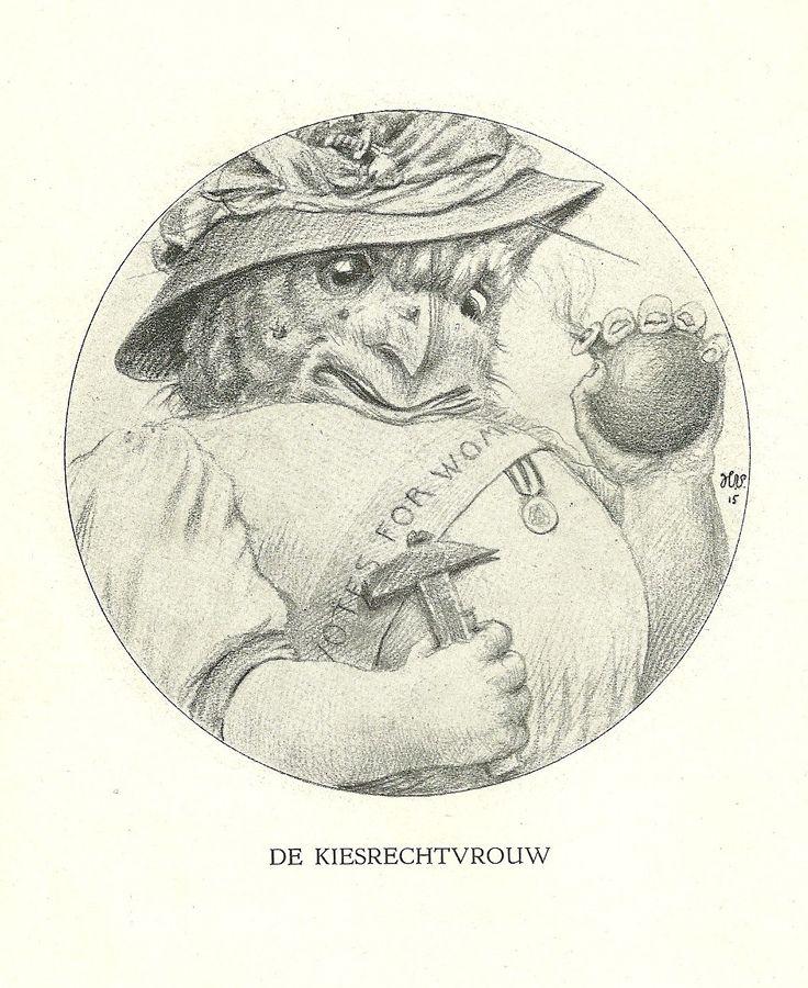 De Kiesrechtvrouw by Henri Verstijnen. Europeana 1914-1918, CC BY-SA