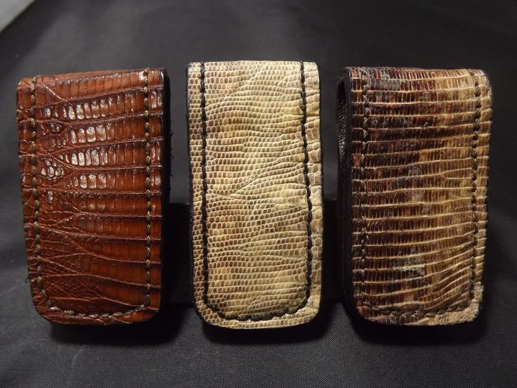 Genuine exotic LIZARD Skin handmade Super Strong Magnetic Money Clip #Handmade