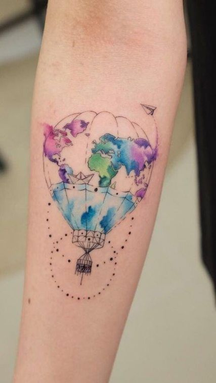 Travel Tattoo Watercolor Tat 53+ Ideas