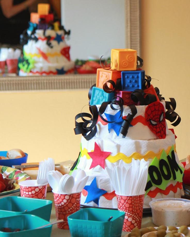 Homemade Boys Lolly Topper Birthday Cake