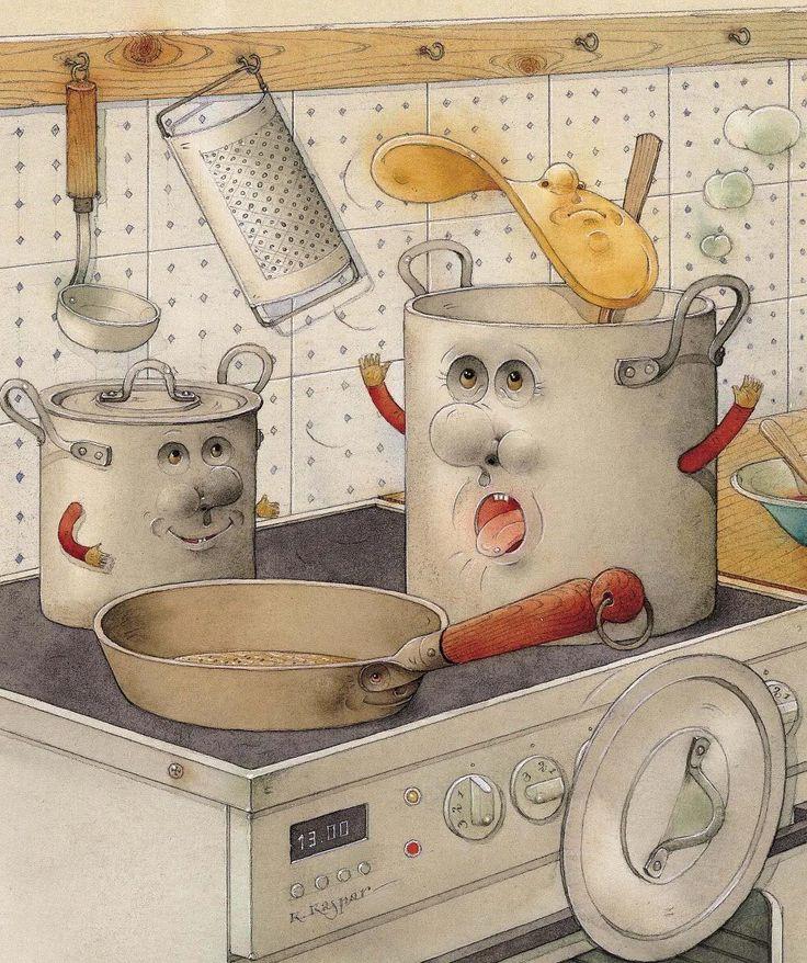 Смешные картинки о посуде, сделать открытку