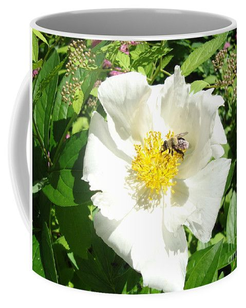 Insect And Flower Coffee Mug by Lyssjart Sj.  Small (11 oz.)
