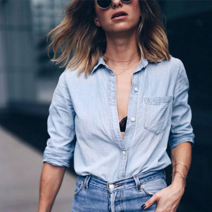 die besten 25 jeanshemd kombinieren ideen auf pinterest jeanshemd outfits damen jeanshemd. Black Bedroom Furniture Sets. Home Design Ideas
