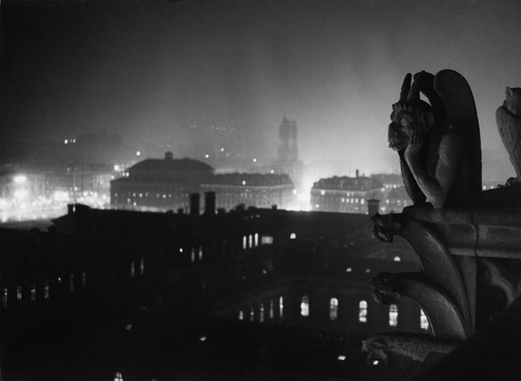 Veduta notturna su Parigi da Notre-Dame, 1933-1934 © Estate Brassaï