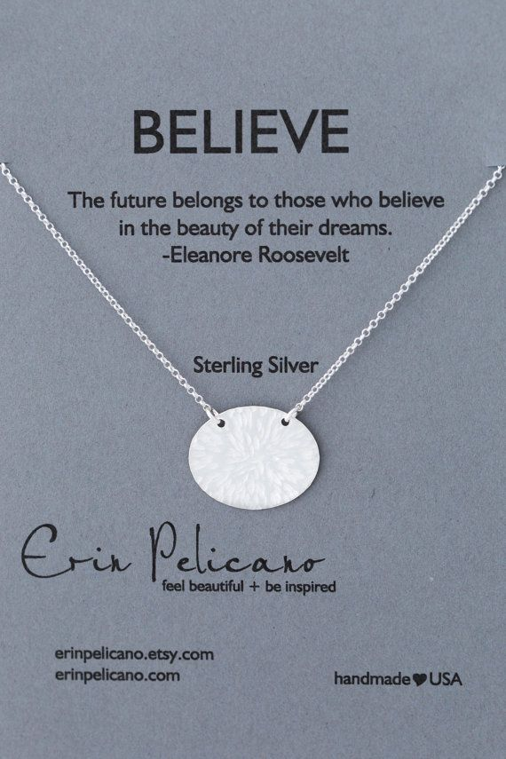 Believe Necklace. Strength Jewelry. Inspired Gift. by erinpelicano