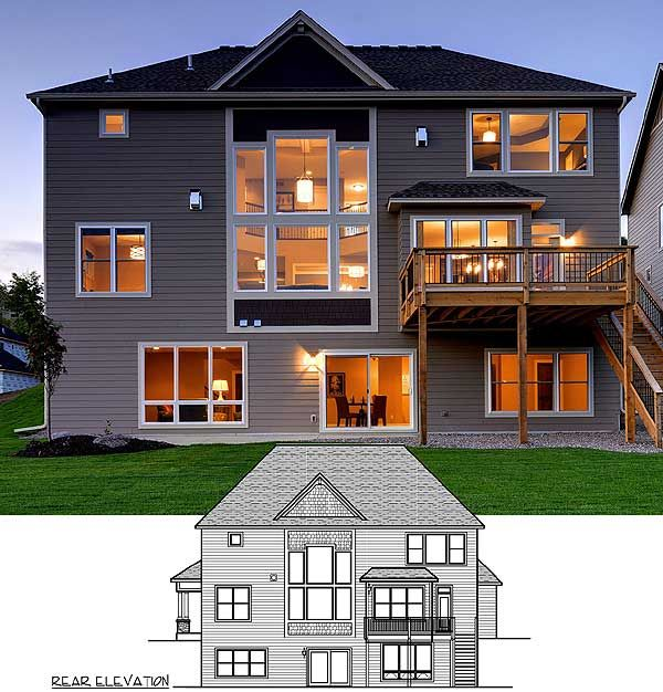Plan 73342hs craftsman beauty with 2 story great room for 2 story lake house