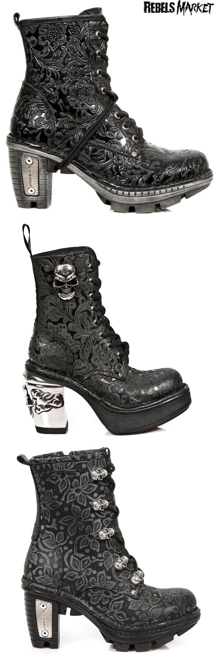 Shop skulls goth boots at RebelsMarket!