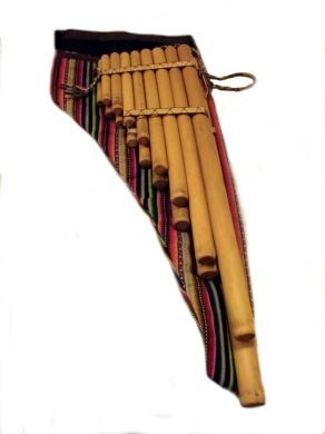 Große #Toyo Konzert #Panflöte, Bambus, 90 cm groß, original peruanisches Instrument.
