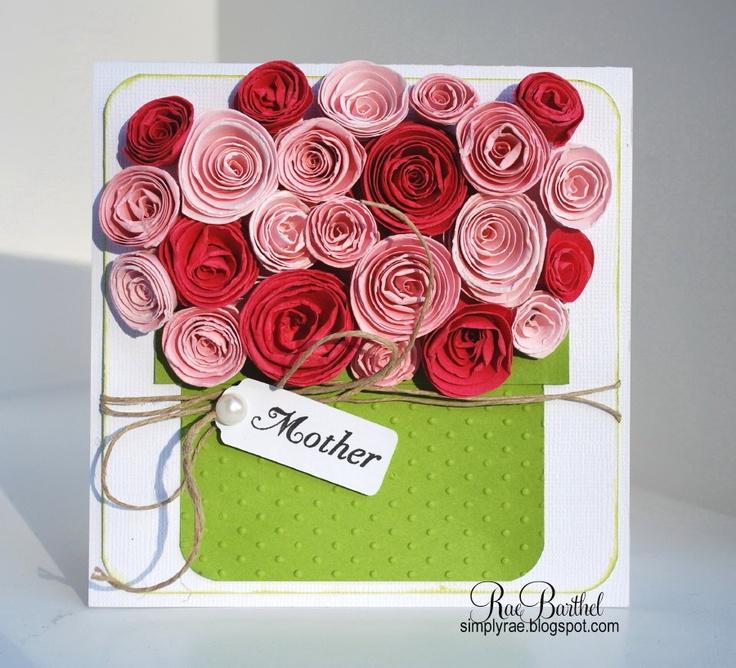 Открытки день матери своими руками квиллера розы