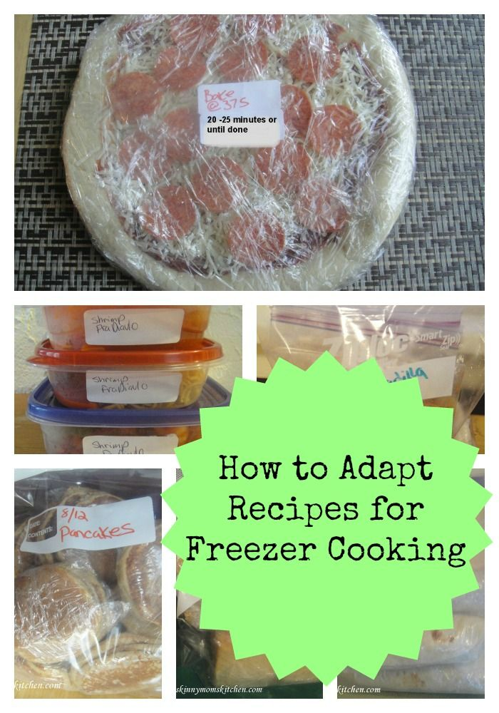 How to Adapt Recipes to Freezer Cooking #organizeyourselfskinny
