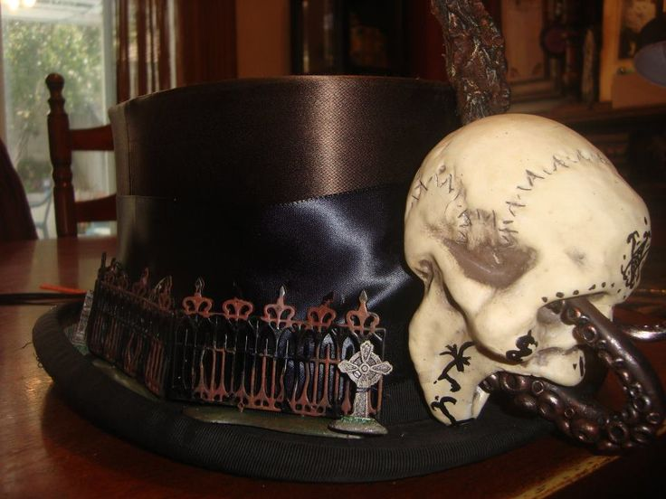 Voodoo themed top hat: Swamp Voodoo, Skulls Voodoo, Magician Hats, Halloween Hats, Vintage Hats, Hats An, Voodoo 2013, Halloween Costume Idea, Tops Hats