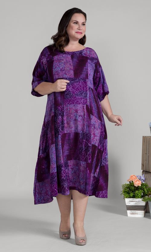 Plus Size Fashoin for Women | 100% Rayon Batik Dress | Sizes 1X-8X ...