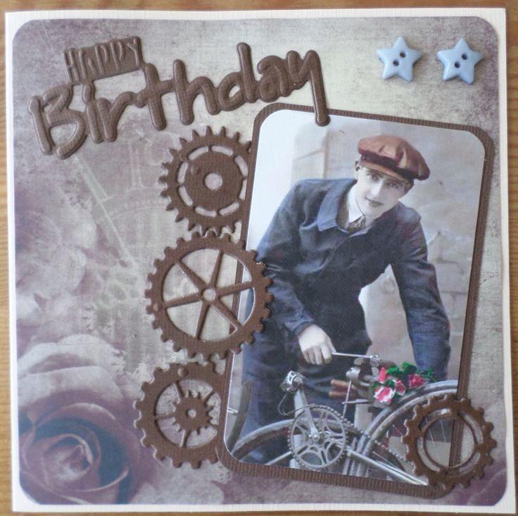 Mannen verjaardagskaart